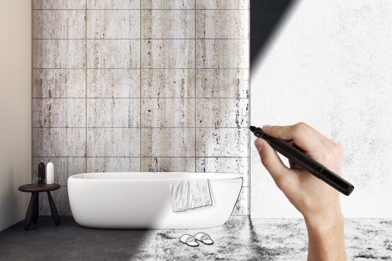 för badrumbadrummar för 12px a3d53b b http för href för hotell för stilsort för dreamstime för design för garnering för com för f stock illustrationer