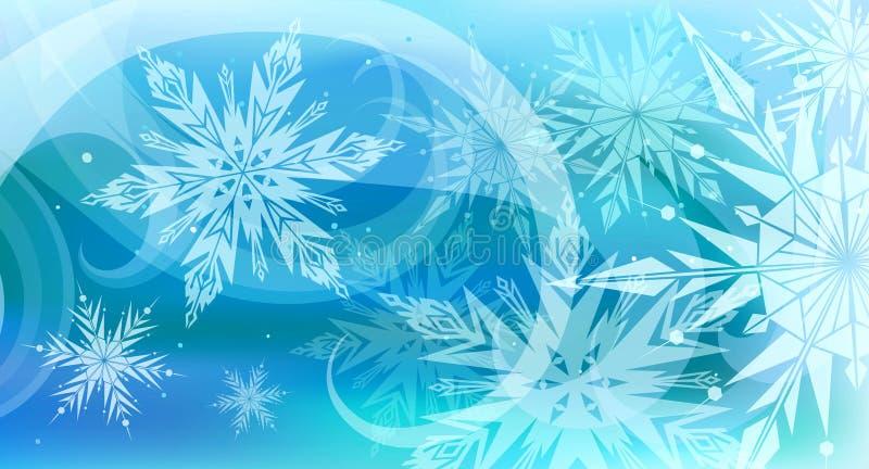 för bakgrund härlig för snowflakes vektor för variant där royaltyfri illustrationer
