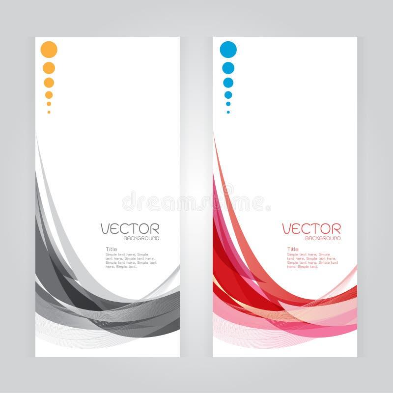 För bakgrundsabstrakt begrepp för vektor vinkar färgrika röda grå färger för fastställd titelrad whit ve vektor illustrationer