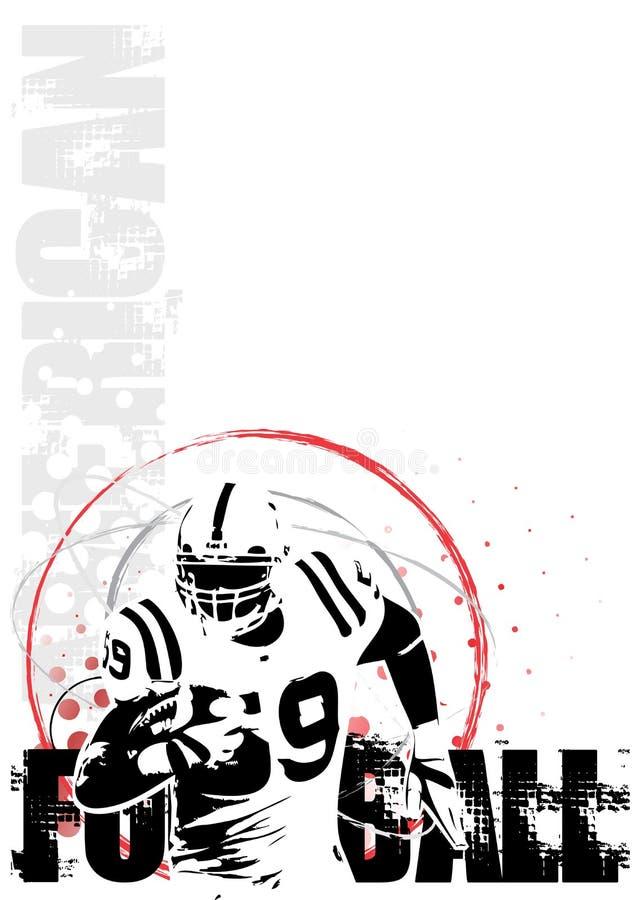 för bakgrundscirkel för 2 american affisch för fotboll vektor illustrationer