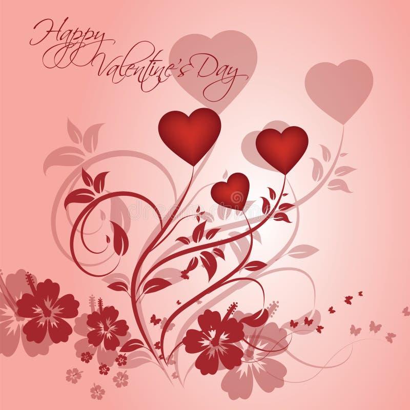 för bakgrundsdagguld röd s valentin för hjärtor vektor illustrationer