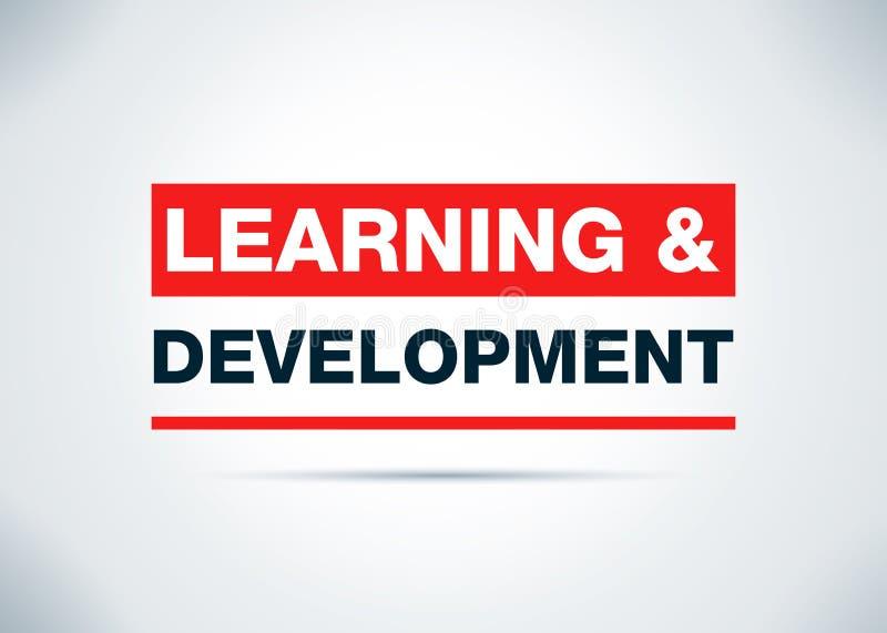 För bakgrundsdesign för lära & för utveckling abstrakt plan illustration royaltyfri illustrationer