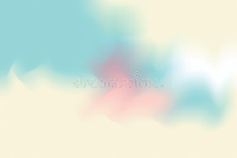För bakgrundsmålning för blå gul mjuk färg blandat abstrakt begrepp för pastell för konst, färgrik konsttapet stock illustrationer