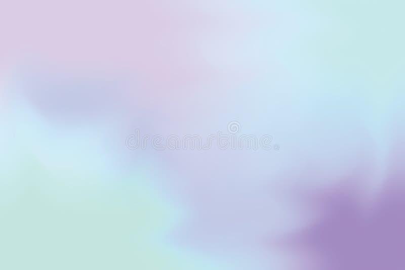 För bakgrundsmålning för blå mjuk färg blandat abstrakt begrepp för pastell för konst, färgrik konsttapet vektor illustrationer