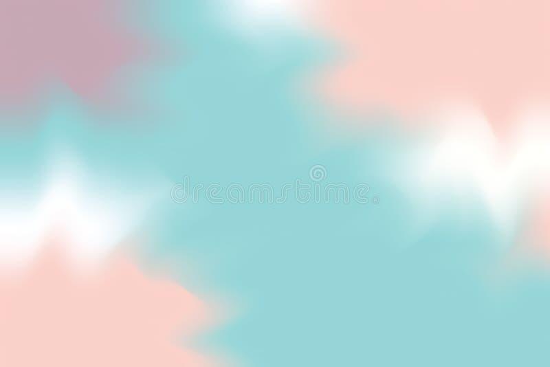 För bakgrundsmålning för blå mjuk färg blandat abstrakt begrepp för pastell för konst, färgrik konsttapet royaltyfri illustrationer