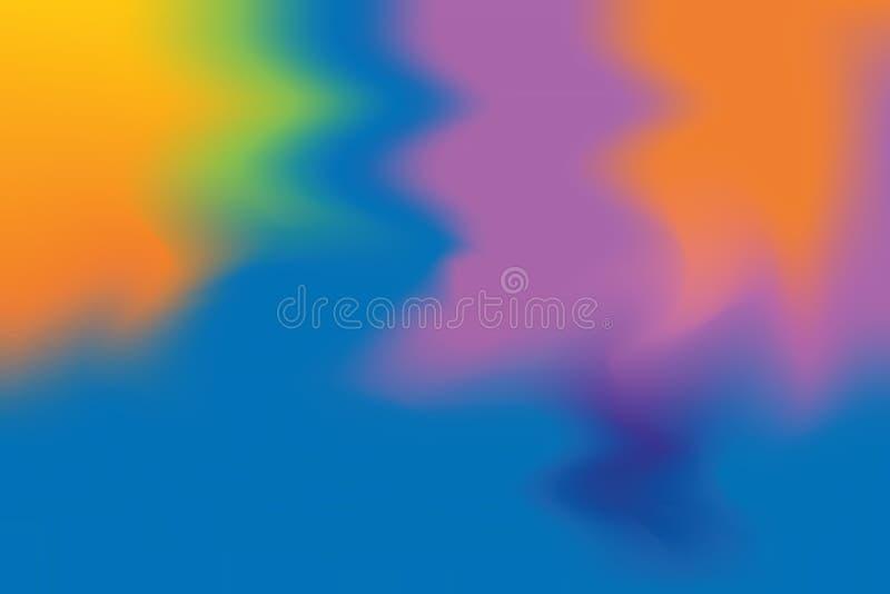 För bakgrundsmålning för blå orange purpurfärgad mjuk färg blandat abstrakt begrepp för pastell för konst, färgrik konsttapet stock illustrationer