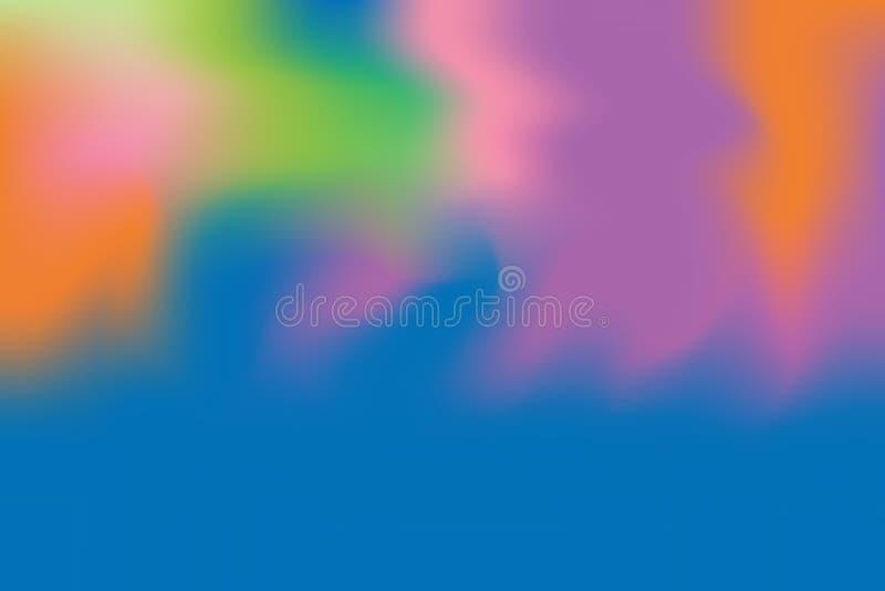 För bakgrundsmålning för blå purpurfärgad mjuk färg blandat abstrakt begrepp för pastell för konst, färgrik konsttapet vektor illustrationer