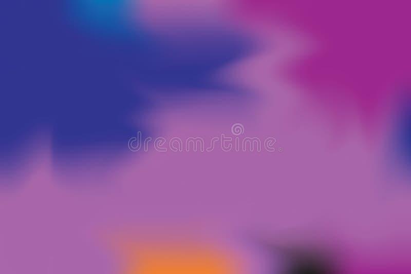 För bakgrundsmålning för blå purpurfärgad mjuk färg blandat abstrakt begrepp för pastell för konst, färgrik konsttapet royaltyfri illustrationer