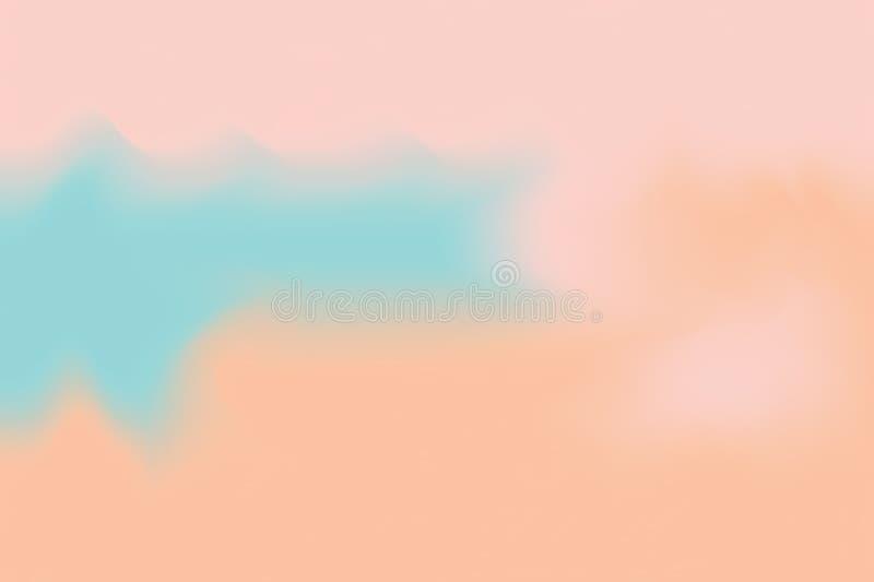 För bakgrundsmålning för blå rosa mjuk färg blandat abstrakt begrepp för pastell för konst, färgrik konsttapet stock illustrationer
