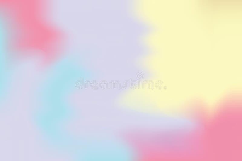 För bakgrundsmålning för blå rosa mjuk färg blandat abstrakt begrepp för pastell för konst, färgrik konsttapet vektor illustrationer