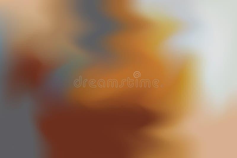 För bakgrundsmålning för brun mjuk färg blandat abstrakt begrepp för pastell för konst, färgrik konsttapet vektor illustrationer