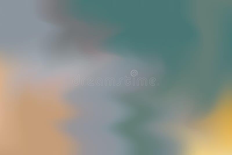 För bakgrundsmålning för grön gul grå mjuk färg blandat abstrakt begrepp för pastell för konst, färgrik konsttapet stock illustrationer