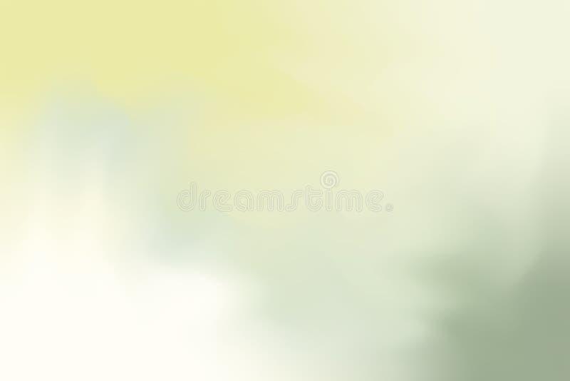 För bakgrundsmålning för grön gul mjuk färg blandat abstrakt begrepp för pastell för konst, färgrik konsttapet royaltyfri illustrationer