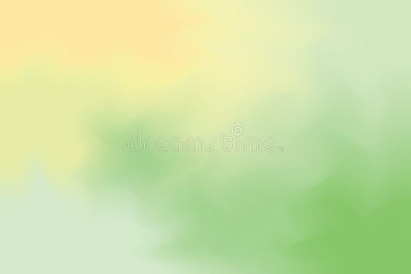 För bakgrundsmålning för grön gul mjuk färg blandat abstrakt begrepp för pastell för konst, färgrik konsttapet stock illustrationer