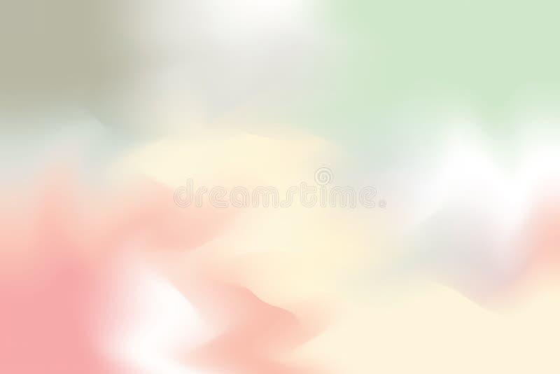 För bakgrundsmålning för grön gul mjuk färg blandat abstrakt begrepp för pastell för konst, färgrik konsttapet vektor illustrationer