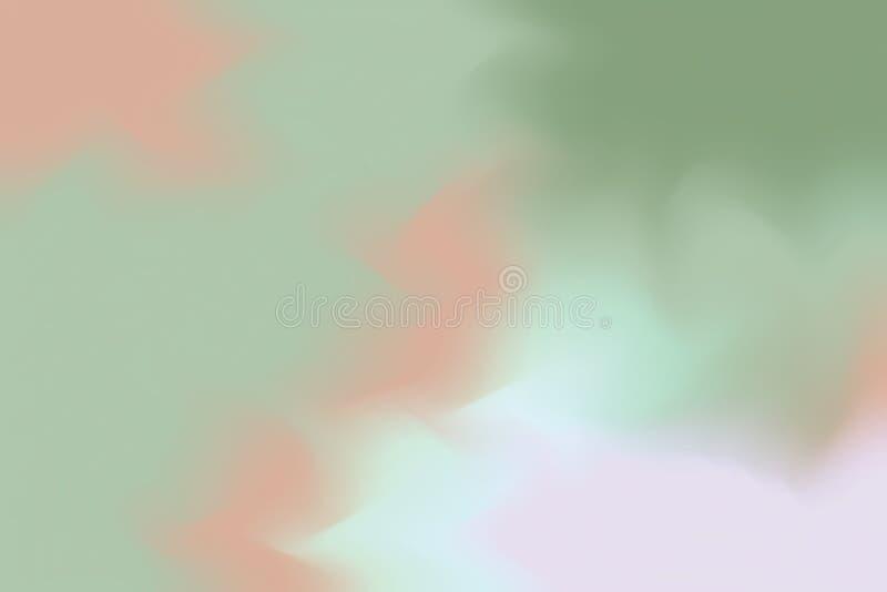 För bakgrundsmålning för grön mjuk färg blandat abstrakt begrepp för pastell för konst, färgrik konsttapet stock illustrationer