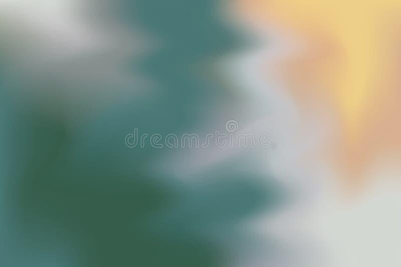För bakgrundsmålning för grön mjuk färg blandat abstrakt begrepp för pastell för konst, färgrik konsttapet royaltyfri illustrationer