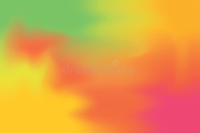 För bakgrundsmålning för grön röd mjuk färg blandat abstrakt begrepp för pastell för konst, färgrik konsttapet royaltyfri illustrationer