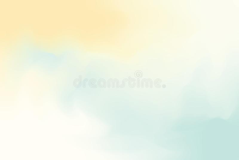 För bakgrundsmålning för gul blå mjuk färg blandat abstrakt begrepp för pastell för konst, färgrik konsttapet vektor illustrationer