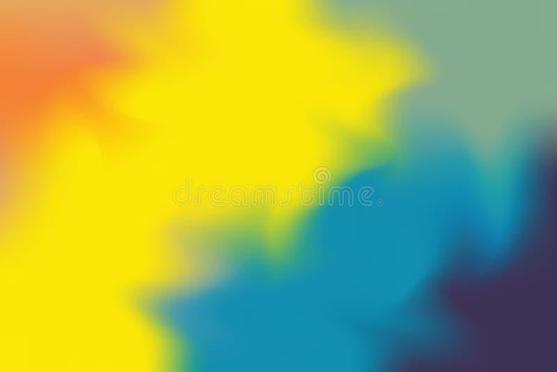 För bakgrundsmålning för gul blå mjuk färg blandat abstrakt begrepp för pastell för konst, färgrik konsttapet royaltyfri illustrationer