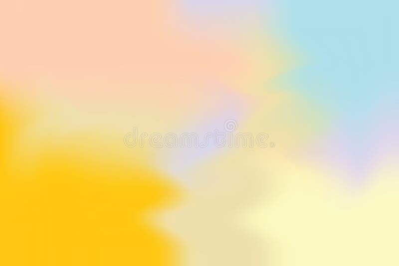 För bakgrundsmålning för gul blå mjuk färg blandat abstrakt begrepp för pastell för konst, färgrik konsttapet stock illustrationer