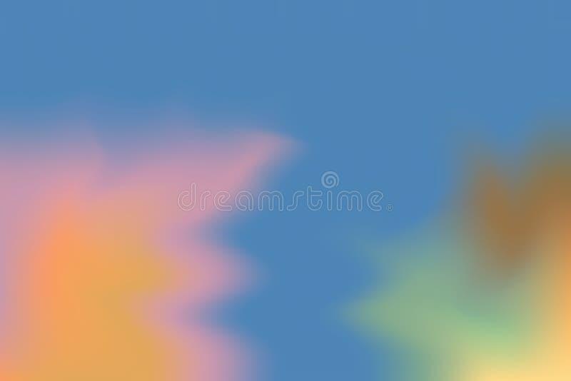 För bakgrundsmålning för gul blå mjuk färg blandat abstrakt begrepp för pastell för konst, färgrik konstwallpape stock illustrationer