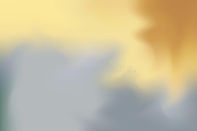 För bakgrundsmålning för gul grå mjuk färg blandat abstrakt begrepp för pastell för konst, färgrik konsttapet stock illustrationer