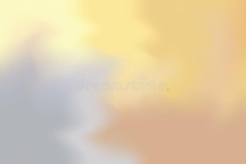 För bakgrundsmålning för gul grå mjuk färg blandat abstrakt begrepp för pastell för konst, färgrik konsttapet royaltyfri illustrationer