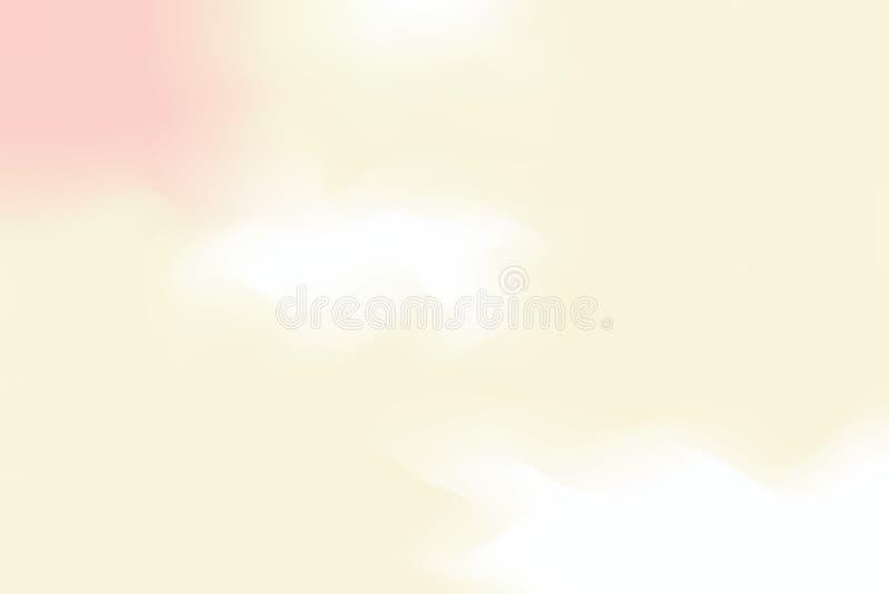 För bakgrundsmålning för gul mjuk färg blandat abstrakt begrepp för pastell för konst, färgrik konsttapet royaltyfri illustrationer