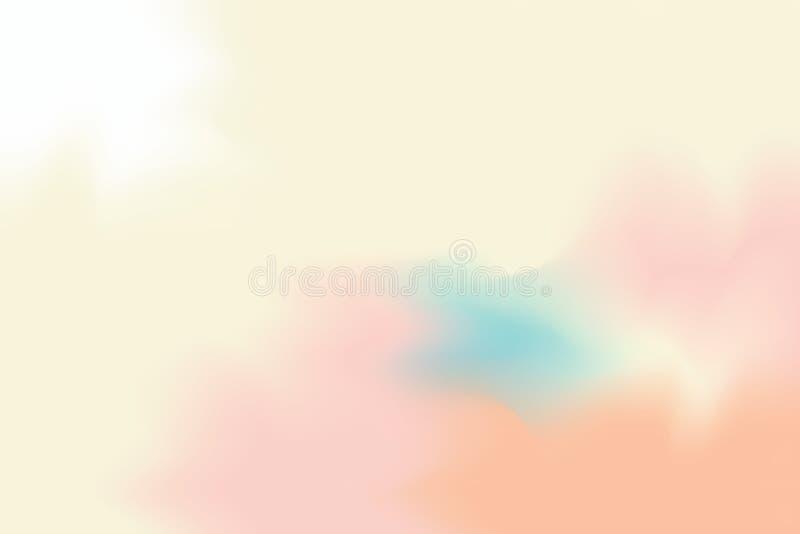 För bakgrundsmålning för gul mjuk färg blandat abstrakt begrepp för pastell för konst, färgrik konsttapet vektor illustrationer