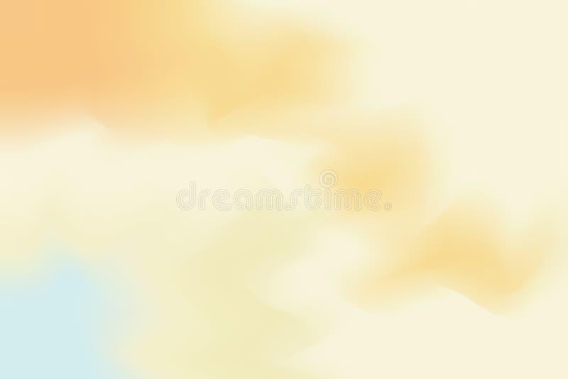För bakgrundsmålning för gul mjuk färg blandat abstrakt begrepp för pastell för konst, färgrik konsttapet stock illustrationer