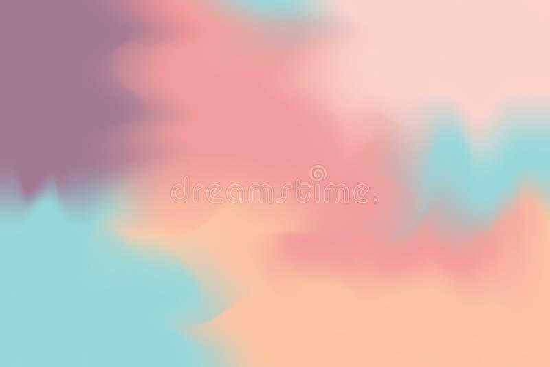 För bakgrundsmålning för mjuk färg blandat abstrakt begrepp för pastell för konst, färgrik konsttapet stock illustrationer
