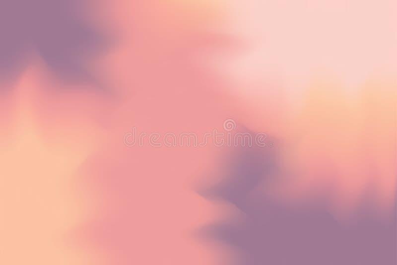För bakgrundsmålning för mjuk färg blandat abstrakt begrepp för pastell för konst, färgrik konsttapet royaltyfri illustrationer