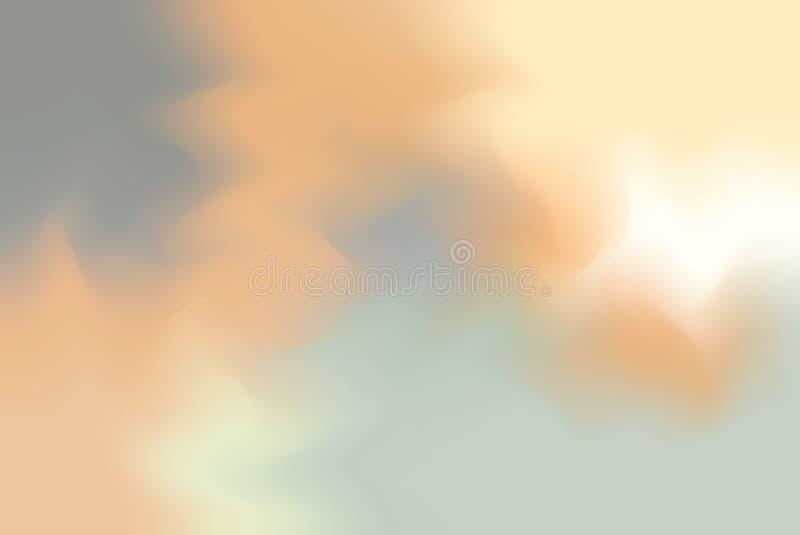 För bakgrundsmålning för orange grå mjuk färg blandat abstrakt begrepp för pastell för konst, färgrik konsttapet vektor illustrationer