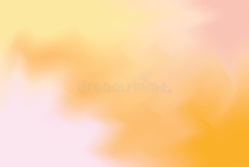 För bakgrundsmålning för orange mjuk färg blandat abstrakt begrepp för pastell för konst, färgrik konsttapet vektor illustrationer