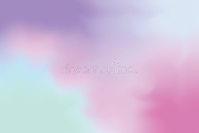 För bakgrundsmålning för purpurfärgad mjuk färg blandat abstrakt begrepp för pastell för konst, färgrik konsttapet stock illustrationer
