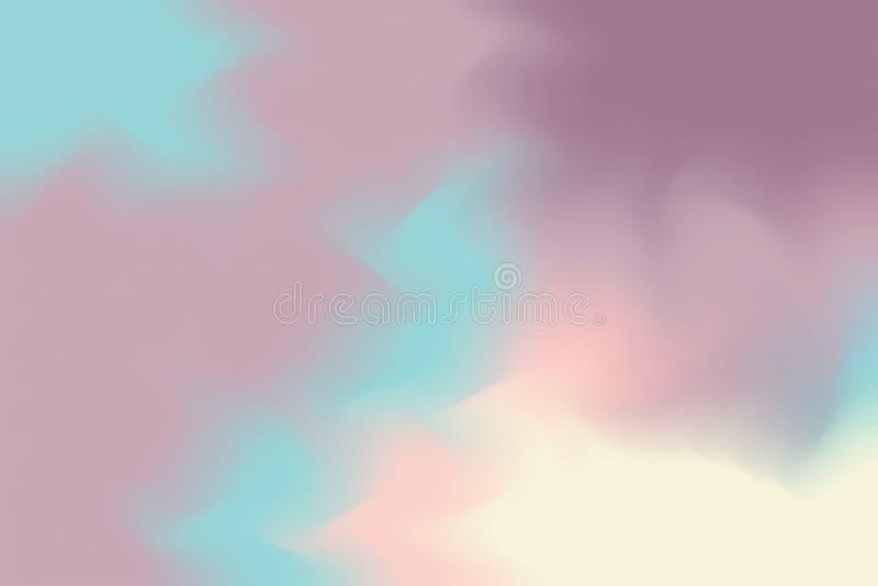 För bakgrundsmålning för purpurfärgad mjuk färg blandat abstrakt begrepp för pastell för konst, färgrik konsttapet vektor illustrationer