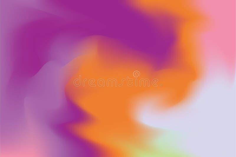 För bakgrundsmålning för purpurfärgad orange rosa mjuk färg blandat abstrakt begrepp för pastell för konst, färgrik konsttapet royaltyfri illustrationer
