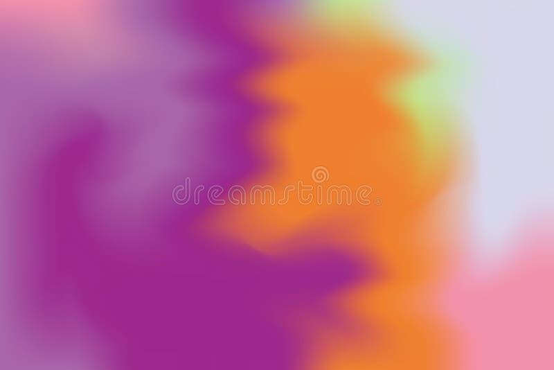 För bakgrundsmålning för purpurfärgad orange rosa mjuk färg blandat abstrakt begrepp för pastell för konst, färgrik konsttapet stock illustrationer