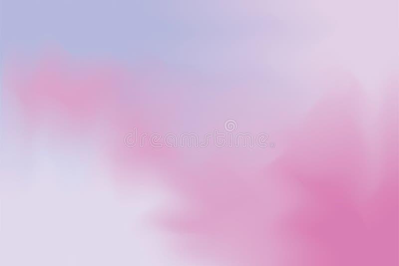 För bakgrundsmålning för purpurfärgad rosa mjuk färg blandat abstrakt begrepp för pastell för konst, färgrik konsttapet royaltyfri illustrationer