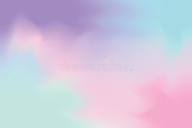 För bakgrundsmålning för purpurfärgad rosa mjuk färg blandat abstrakt begrepp för pastell för konst, färgrik konsttapet stock illustrationer
