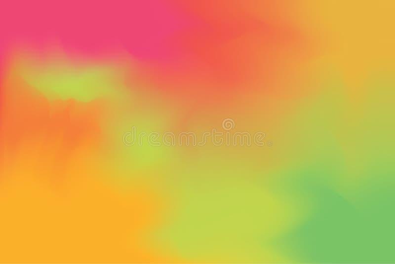 För bakgrundsmålning för röd grön mjuk färg blandat abstrakt begrepp för pastell för konst, färgrik konsttapet stock illustrationer