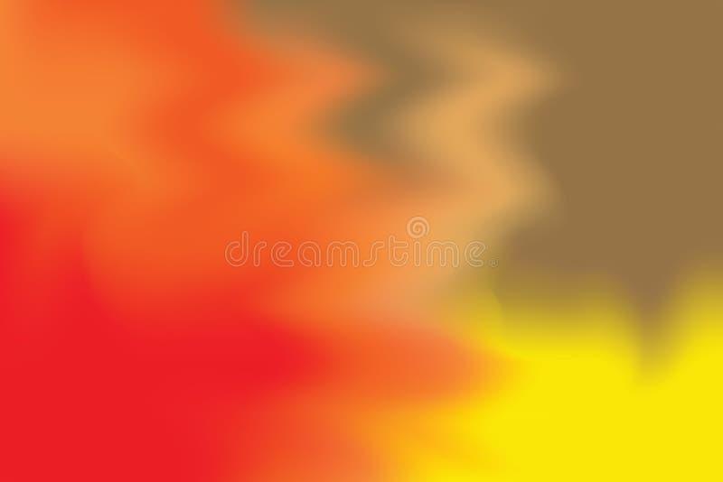 För bakgrundsmålning för röd gul orange mjuk färg blandat abstrakt begrepp för pastell för konst, färgrik konsttapet vektor illustrationer