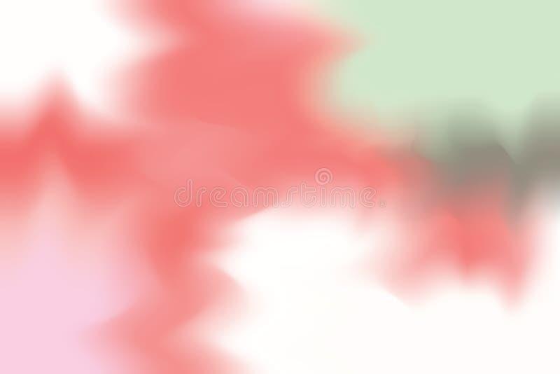 För bakgrundsmålning för rosa röd grön mjuk färg blandat abstrakt begrepp för pastell för konst, färgrik konsttapet stock illustrationer