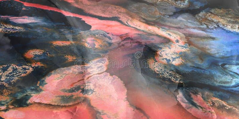 För bakgrundsmarmor för Grunge lantlig design för keramiska tegelplattor, beige marmor i hög upplösning arkivbild
