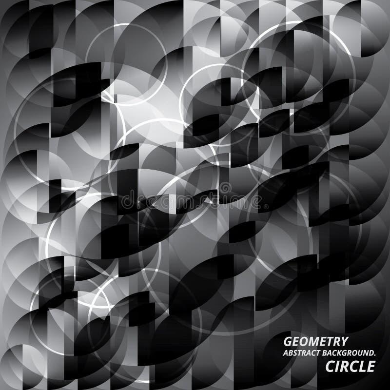 För bakgrundsmodell för geometri abstrakt illustration för vektor för cirkel royaltyfri illustrationer
