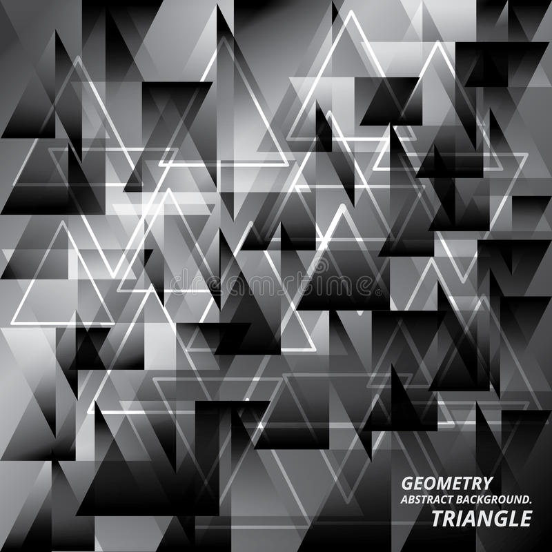 För bakgrundsmodell för geometri abstrakt illustration för vektor för triangel vektor illustrationer