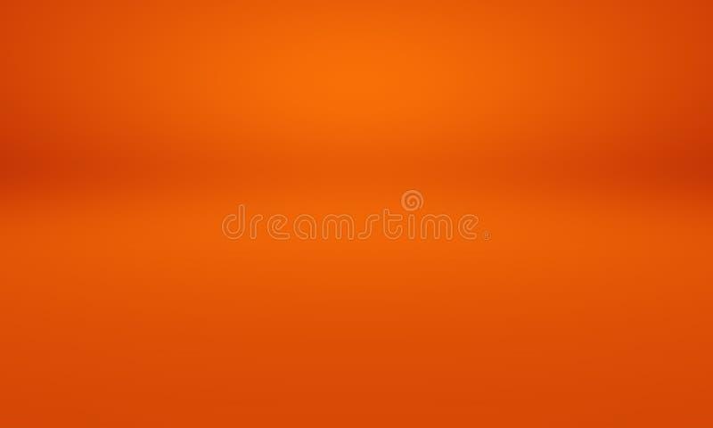 För bakgrundsorientering för abstrakt begrepp slät orange design, studio, rum, rengöringsdukmall, affärsrapport med slät cirkellu vektor illustrationer
