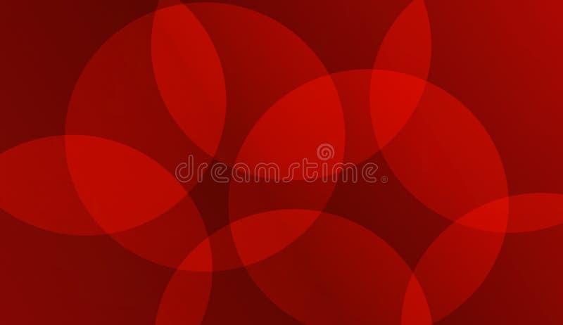För bakgrundsrengöringsduk för vektor rund röd illustration för tapet stock illustrationer