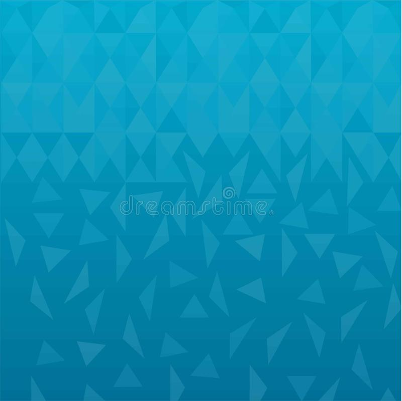 För bakgrundsvektor för blå triangel poly abstrakt illustration lågt royaltyfri illustrationer